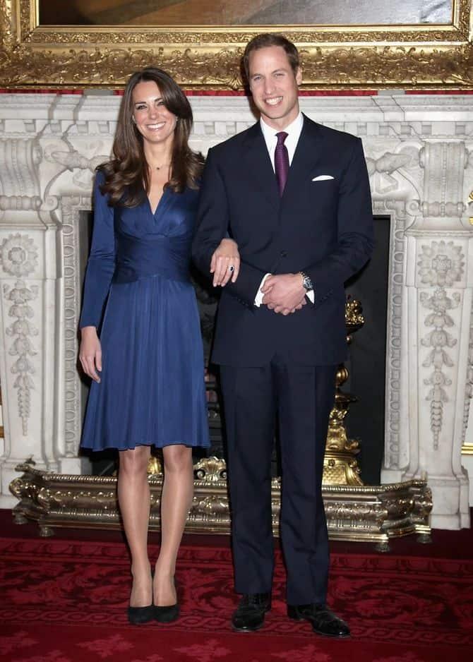 Платье для помолвки Кейт Миддлтон