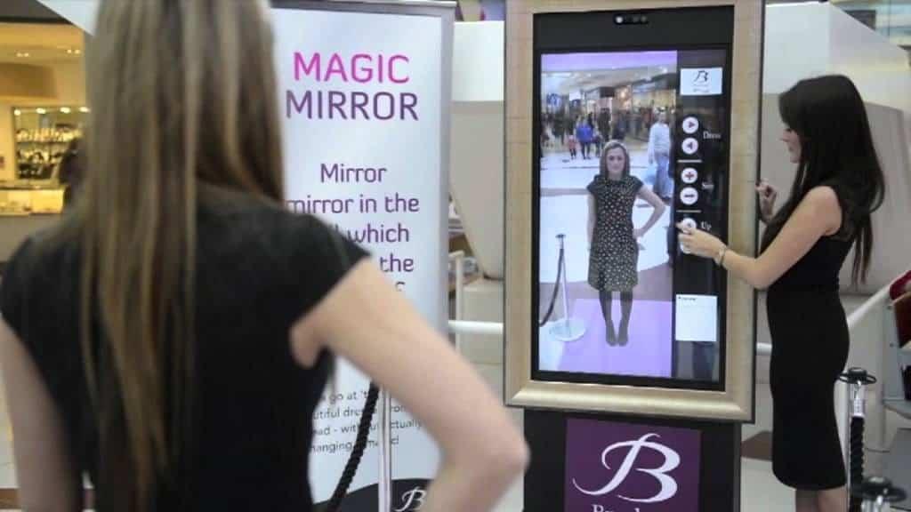 Зеркало для виртуальной примерки одежды